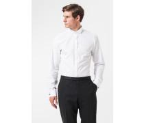 Smoking-Hemd Pauly in Weiß mit Umschlagmanschette