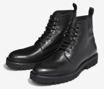 Schnür-Boots Kosmas in Schwarz