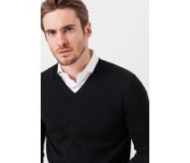 V-Neck-Pullover Marcello in Schwarz