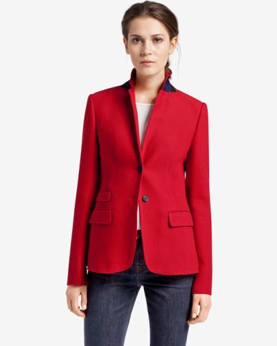 windsor damen blazer in rot reduziert. Black Bedroom Furniture Sets. Home Design Ideas