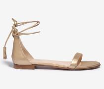 Schnür-Sandale by Unützer in Gold