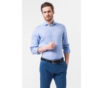 Leinen-Hemd Lugo in Blau meliert
