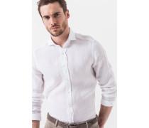 Leinen-Hemd Lugo in Weiß