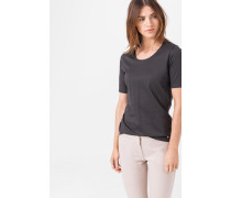 Rundhals-T-Shirt in Grau