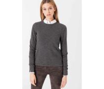 Melierter Kaschmir-Pullover in Grau