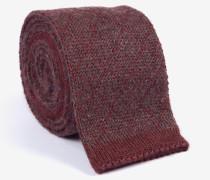 Strick-Krawatte in Bordeaux