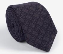 Krawatte mit Webmuster in Marine /Taupe