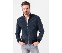 Lederblouson Borello in Navy