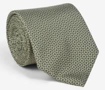 Krawatte mit Graphik-Muster in Grün