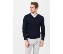 V-Neck-Pullover Marcello in Marine