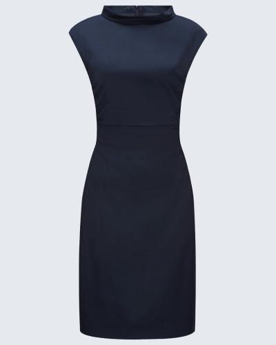 Popeline-Kleid in Navy