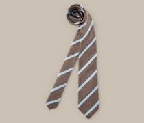 Krawatte in Braun-Blau gestreift