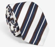 Gestreifte Krawatte in Marine/Weiß