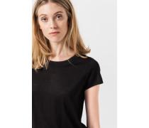 Seiden-Shirt in Schwarz