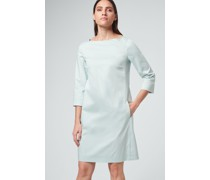 Baumwollsatin-Kleid in Mint