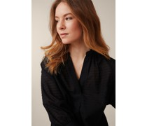 Broderie Anglaise-Bluse in Schwarz