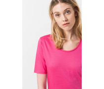Rundhals-T-Shirt in Pink