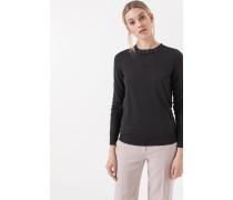 Merino-Pullover in Grau