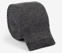 Strick-Krawatte in Grau