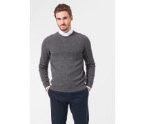 Melierter Cashmere-Pullover Cashmono in Grau