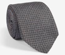 Krawatte mit Flechtmuster in Grau/Braun