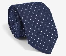 Krawatte mit kleinen Paisleys in Marine