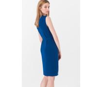 Drapé-Kleid in Kobalt-Blau