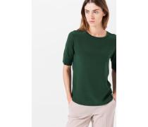 Rundhals-T-Shirt in Smaragd-Grün