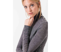 Melierter Pullover in Grau