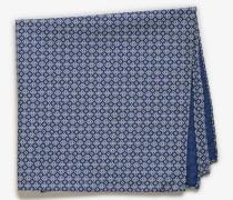 Einstecktuch mit Print in Blau/Weiß