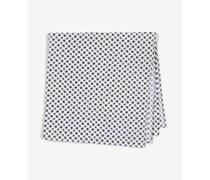Einstecktuch mit Ornament-Print in Braun/Weiß