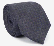 Krawatte mit Pepitamuster in Blau/Grau