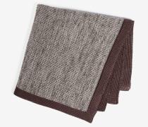 Strick-Einstecktuch in Grau/Braun