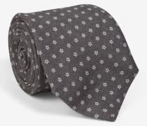 Krawatte mit floralem Muster in Grau