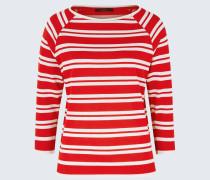 Tencel-Ringel-Shirt in Rot-Weiß