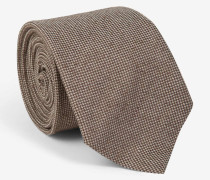 Krawatte mit filigranem Würfel-Muster in Braun