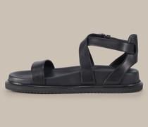 Sandale aus Ziegenleder by Unützer in Schwarz