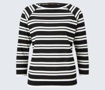 Tencel-Ringel-Shirt in Schwarz-Weiß