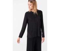 Seiden-Bluse in Schwarz