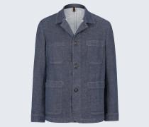 Work-Wear-Jacket Ariano in Denim Blau