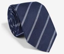 Krawatte mit Webstreifen in Marine