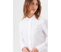 Oxford-Bluse in Weiß