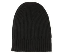 Cashmere-Mütze in Schwarz