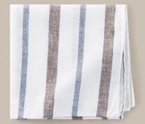 Einstecktuch in Braun-Weiß-Blau gestreift