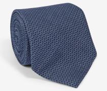 Print-Krawatte in Blau