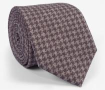 Krawatte mit Pepitamuster in Taupe/Beige
