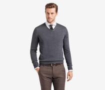 V-Neck-Pullover Marcello in Grau
