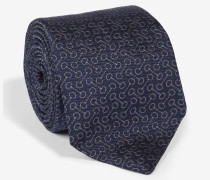 Krawatte mit Webmuster in Marine