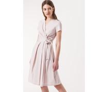 Kleid in Wickeloptik in Nude