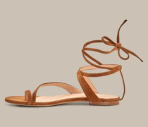 Sandale aus Ziegenleder by Unützer in Caramel